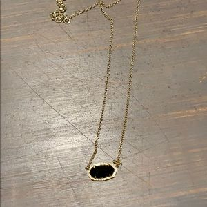 Kendra Scott black and gold Elise necklace